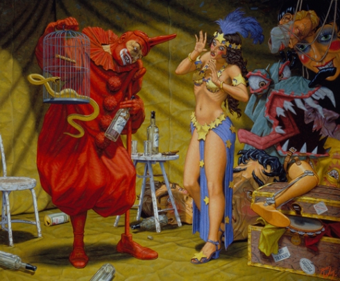 "Robert Williams - ""In the Pavillion of the Red Clown,"" 2001"